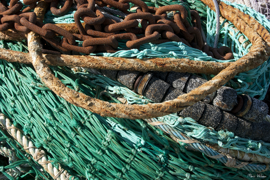 Filets et chaines de pêche