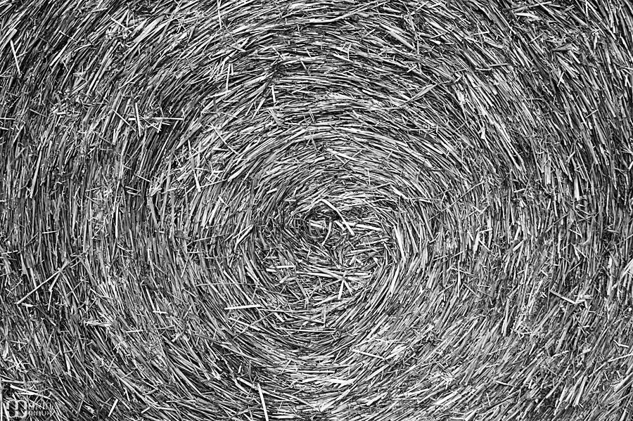 gros plan d'un rouleau de paille