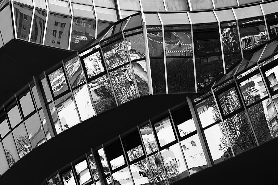 Cité Judiciaire de Rennes en noir et blanc