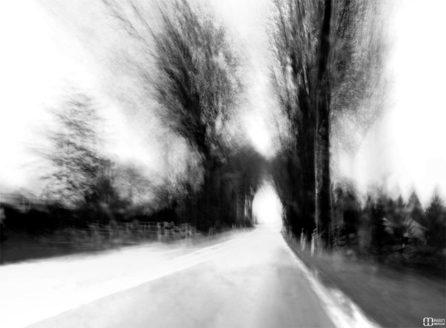 Flou de mouvement : route et vitesse
