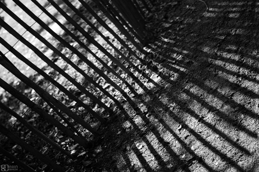 Ombres striées de barrière