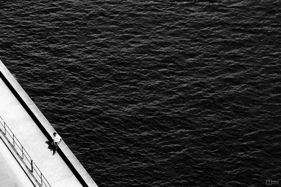 Bord du Douro : homme seul