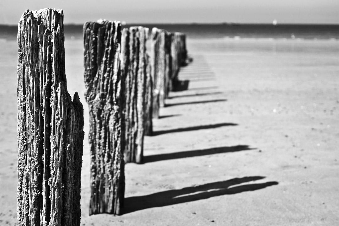 Pieux de plage à St-Malo