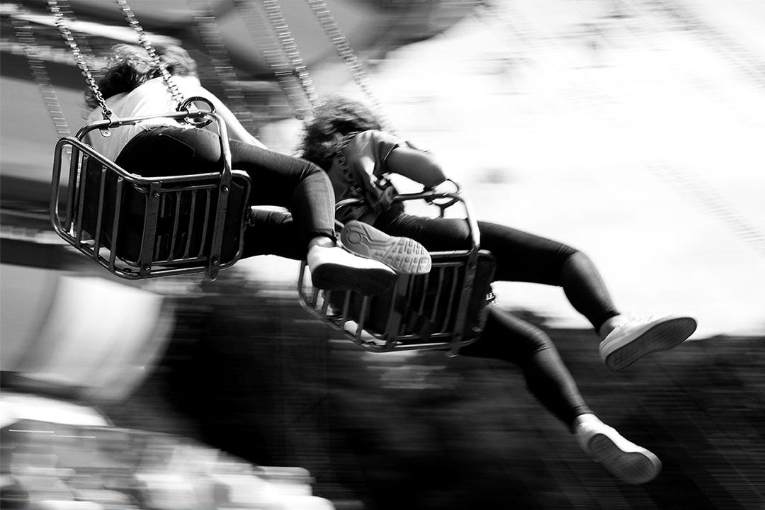 Manège de foire : envol su chaise volante