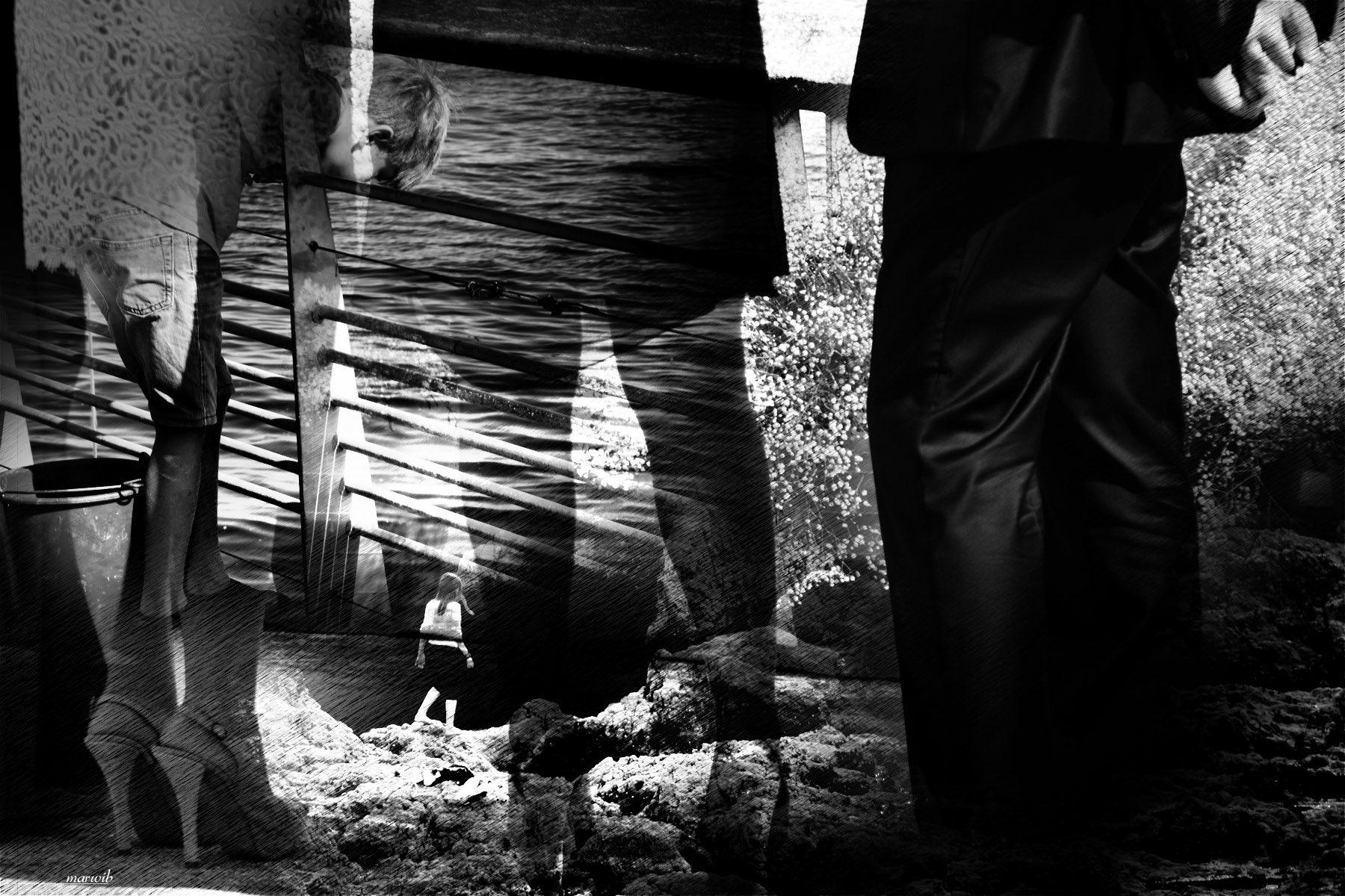 elle et lui : rencontre : photo noir et blanc sur le thème de la séduction et de ce qu'y peut s'en suivre