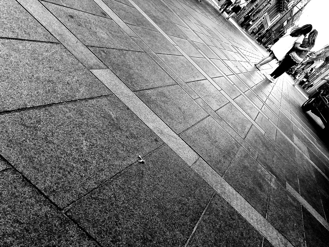 Selfie dans une rue de Toulouse