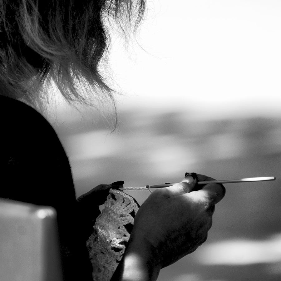 Pause au crochet : portrait de dos